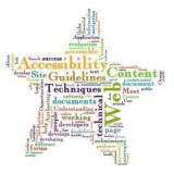 Word cloud made of accessibility related words