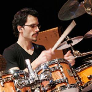 Anthony Michelli playing the drums